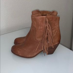 Sam Edelman Louie Brown Leather Ankle Boots 8W